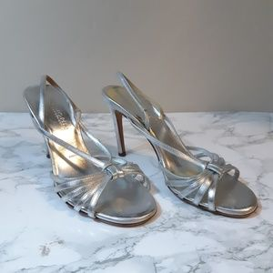 St. John  Collection silver strappy sandal size 7.